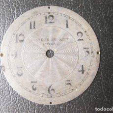 Recambios de relojes: ESFERA DE RELOJ SYSTEME ROSKOPF - 3,6 CMS DE DIAMETRO. Lote 259709975