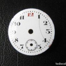 Recambios de relojes: ANTIGUA ESFERA DE RELOJ ESMALTADA DE 2,3 CMS DE DIAMETRO. Lote 259711060