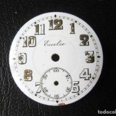 Recambios de relojes: ANTIGUA ESFERA DE RELOJ ESMALTADA ECCELSO DE 2,9 CMS DE DIAMETRO. Lote 259711390