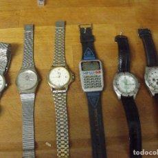 Recambios de relojes: 6 RELOJES DE CUARZO PARA CABALLERO -LOTE 389. Lote 261231695