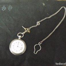 Ricambi di orologi: ANTIGUO RELOJ DE BOLSILLO EN PLATA CON GRABADOS AGRICOLAS- CON CADENA-AÑO 1880-LOTE 259-26. Lote 261564550