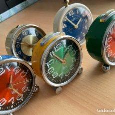 Peças de reposição de relógios: LOTE DE 5 DESPERTADORES MARCAS MICRO Y TITÁN. Lote 261812070