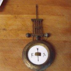 Recambios de relojes: ANTIGUO PENDULO PARA RELOJ IMPERIO 0 PORTICO - AÑO 1860- LOTE 392. Lote 261822140