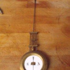 Recambios de relojes: GRAN PENDULO PARA RELOJ IMPERIO O MARMOL -TIPO NOTARIO-LOTE 392. Lote 261822535