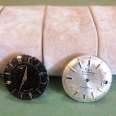 Recambios de relojes: DUAS MÁQUINAS ELECTRÓNICAS HAMILTON TECHNOS. Lote 263699385