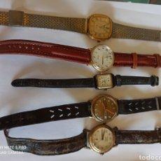 Recambios de relojes: LOTE DE 5 RELOJES PARA REVISAR. Lote 266160703