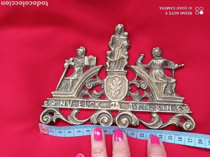 Recambios de relojes: ANTIGUAS PIEZAS EN BRONCE PARA RELOJ DE PARED - Foto 4 - 268616429