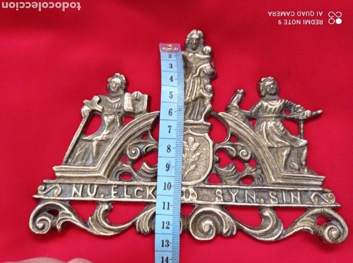 Recambios de relojes: ANTIGUAS PIEZAS EN BRONCE PARA RELOJ DE PARED - Foto 5 - 268616429