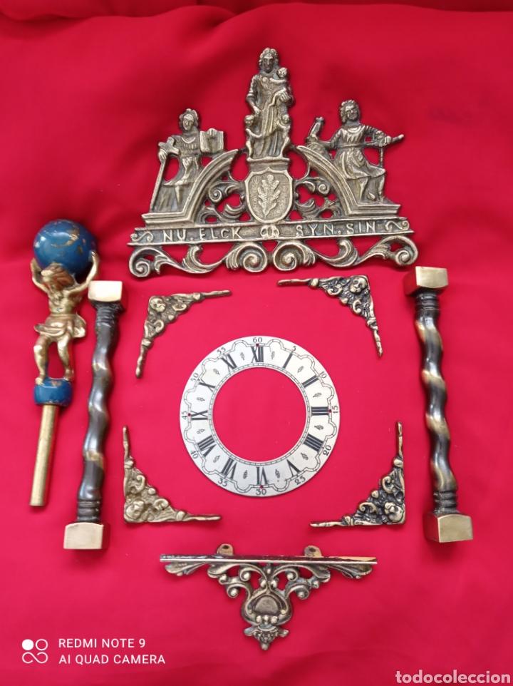 ANTIGUAS PIEZAS EN BRONCE PARA RELOJ DE PARED (Relojes - Recambios)