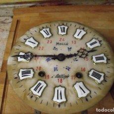 Recambios de relojes: ANTIGUA MAQUINARIA MOREZ DE OJO BUEY- COMPLETA Y FUNCIONAL - ESFERA DE ALABASTRO-- AÑO 1880-LOTE 399. Lote 268756909