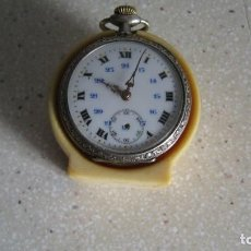 Recambios de relojes: ANTIGUO SOPORTE PARA RELOJ DE BOLSILLO ENTERAMENTE DE MARFIL DIÁMETRO INTERIOR 41 MM.. Lote 268838049