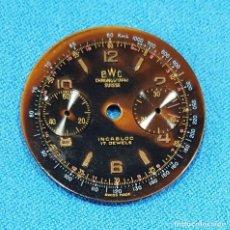 Recambios de relojes: 114-ESFERA CRONÓGRAFO BWC - SUISSE, DIÁMETRO 27 MM. LANDERON 51. Lote 270967988