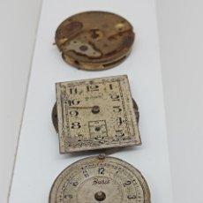 Recambios de relojes: LOTE DE 3 CALIBRES- MOVIMIENTOS ANTIGUOS PARA PIEZAS. Lote 271124663