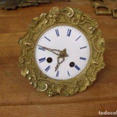 Recambios de relojes: ANTIGUA MAQUINARIA PARIS PARA RELOJ PORTICO IMPERIO-AÑO 1870-LOTE 403. Lote 273192573