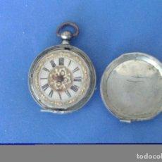 Recambios de relojes: RELOJ DE BOLSILLO DE PLATA CON ESFERA VICTORIANA, PARA RESTAURAR O PIEZAS. Lote 274416288