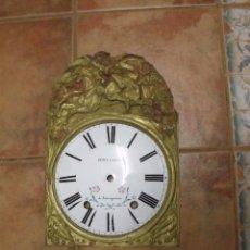 Recambios de relojes: ANTIGUO FRONTAL EN LATÓN CON ESFERA DE PORCELANA PARA RELOJ MOREZ PESAS-´AÑO 1860-LOTE 406. Lote 274438303