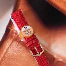 Ricambi di orologi: CORREA DE RELOJ HIRSCH CROCOGRAIN TALLA M 18MM NUEVA. Lote 275155593