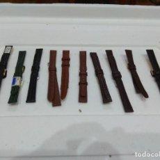 Recambios de relojes: 10 CORREAS DE PIEL DIFERENTES COLORES.GENUINE LEATHER,BECERRO LEGÍTIMO,BISONTE LEGÍTIMO,PIERO MAGLI.. Lote 276757933