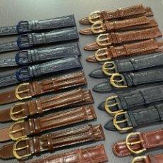 Pièces de rechange de montres et horloges: LIQUIDACIÓN 20 CORREAS RELOJ - EN PIEL 18 MM. ¡¡NUEVAS!! (VER FOTOS) CASIO, SEIKO, CAUNY, DOGMA, ETC. Lote 277274373
