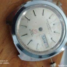 Recambios de relojes: MAQUINARIA DE RELOJ CAUNYMATIC 25 RUBIES AUTOMATICO PARA PIEZAS. Lote 277743588