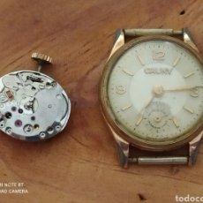 Recambios de relojes: RELOJ CAUNY Y MAQUINA CERTINA 13-20 DE CUERDA PARA MUJER. Lote 277749278