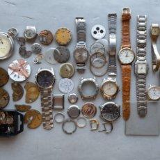 Recambios de relojes: LOTE DE RELOJES MECÁNICOS, DE CUARZO Y PIEZAS VARIADAS. Lote 277754078