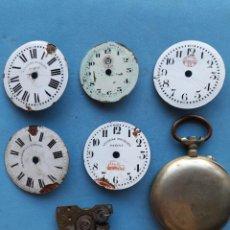 Recambios de relojes: ROSKOPF. LOTE DE PIEZAS PARA RELOJES DE BOLSILLO. Lote 277758703