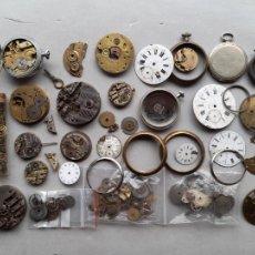 Recambios de relojes: LOTE DE MÁQUINAS Y PIEZAS PARA RELOJES DE BOLSILLO ANTIGUOS. Lote 279513963