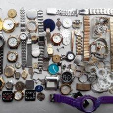 Recambios de relojes: LOTE DE RELOJES MECÁNICOS, DE CUARZO Y PIEZAS VARIADAS. Lote 279519383