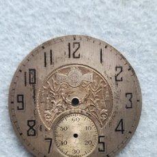 Recambios de relojes: ELGIN SUN. ESFERA DECORADA PARA RELOJ DE BOLSILLO ANTIGUO.. Lote 279523028