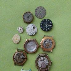 Recambios de relojes: PIEZAS VARIADAS DE RELOJES. Lote 280116998