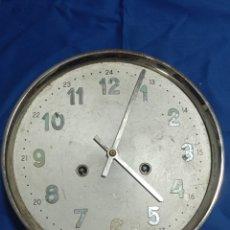 Recambios de relojes: ANTIGUA MAQUINARIA DE RELOJ DE PARED SPAIN. Lote 281831258
