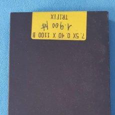 Recambios de relojes: CAJA CON 10 UNIDADES DE MUELLES REALES DESPERTADOR 7'5 X 0'40 X 1100 B MARCA TRIFIX. Lote 283186923