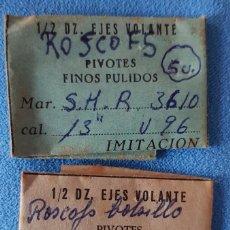 Recambios de relojes: 175-ROSKPOV BOLSILLO, LOTE 2 SOBRES EJES DE VOLANTE. Lote 284136093