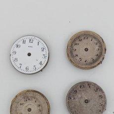 Recambios de relojes: LOTE DE ANTIGUOS MECANISMOS CON ESFERAS. Lote 284473153