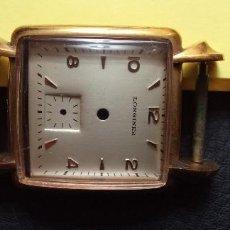 Peças de reposição de relógios: CURIOSA CAJA CHAPADA ORO ESFERA LONGINES , CRISTAL Y TAPA DE ACERO. Lote 287386093