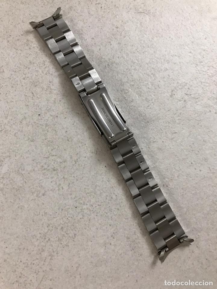 Recambios de relojes: CORREA ARMIS ACERO Y ORO 19 MM - Foto 3 - 289536973