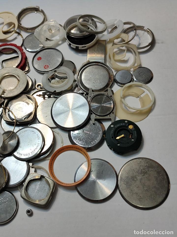 Recambios de relojes: Lote Relojero tapas de reloj etc todo lo de las fotos - Foto 2 - 289541933