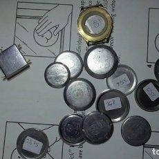 Recambios de relojes: 16 TAPAS DE RELOJ SUIZO CAUNY. Lote 289600903