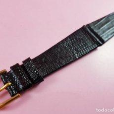 Peças de reposição de relógios: 10944·/CORREA-RELOJ-PIEL LAGARTO LEGÍTIMA-20 MM-NUEVA-COLECCIONISTAS-VER FOTOGRAFÍAS.. Lote 290308563
