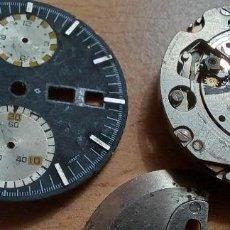 Peças de reposição de relógios: ESFERA Y MOVIMIENTO SEIKO INCOMPLETO Y OTRAS PIEZAS RELOJES. Lote 291929568