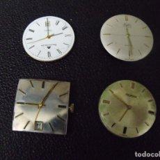 Peças de reposição de relógios: 4 MOVIMIENTOS ANTIGUOS PARA RELOJ DE PULSERA HOMBRE - LOTE 259-39. Lote 293614838