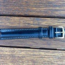 Recambios de relojes: CORREA PIEL NEGRA MARCA HIRSCH 16MM MUY BUENA CALIDAD WATER RESISTANT. Lote 295359058