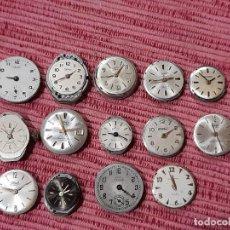Recambios de relojes: LOTE 14 MECANISMOS DE RELOJES A CUERDA. Lote 295754093