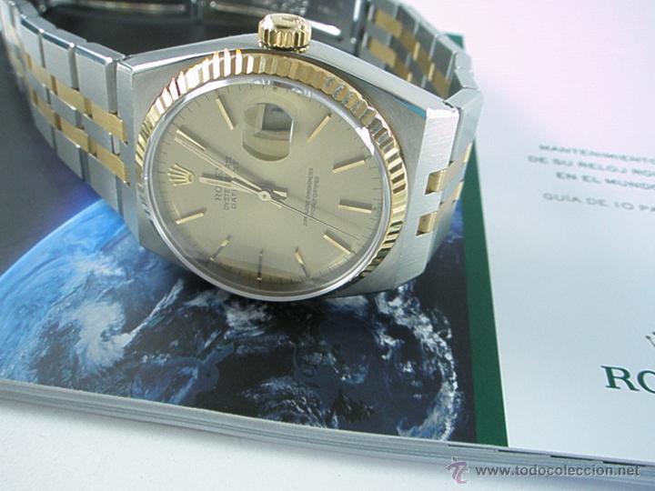 RELOJ-ROLEX-DATEJUST OYSTERQUARZ-17013-ACERO+ORO-COMO Nº-MUCHOS ACCESORIOS-NUEVO O COMO NUEVO. (Relojes - Relojes Actuales - Rolex)