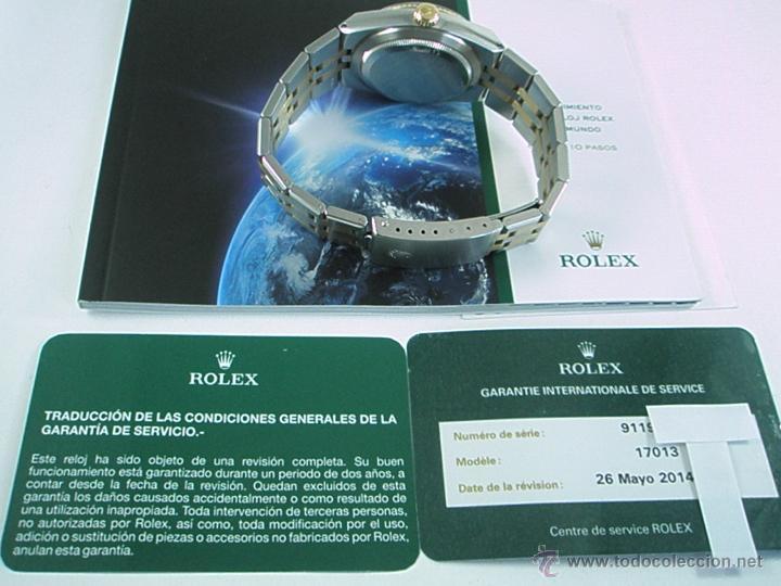 Relojes - Rolex: RELOJ-ROLEX-DATEJUST OYSTERQUARZ-17013-ACERO+ORO-COMO Nº-MUCHOS ACCESORIOS-Nuevo o como nuevo. - Foto 20 - 175823292