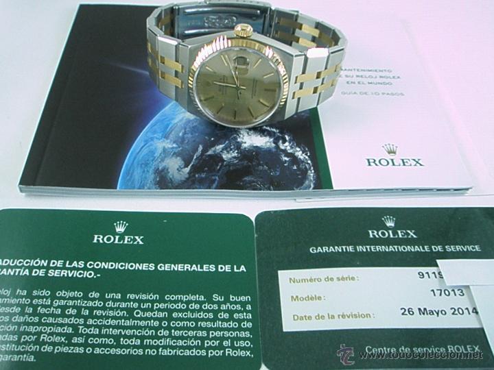 Relojes - Rolex: RELOJ-ROLEX-DATEJUST OYSTERQUARZ-17013-ACERO+ORO-COMO Nº-MUCHOS ACCESORIOS-Nuevo o como nuevo. - Foto 21 - 175823292