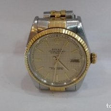 Relojes - Rolex: RELOJ ROLEX DATE JUST , REF,16000 DE ORO Y ACERO CRISTAL ORIGINAL ROLEX BUEN ESTADO. Lote 95715923