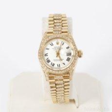 Relojes - Rolex: RELOJ ROLEX 6917 DE ORO Y DIAMANTES DE SEGUNDA MANO E314217. Lote 110298883