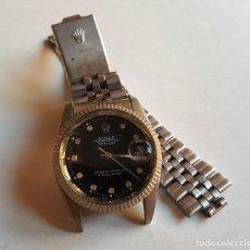 Relojes - Rolex: ANTIGUO RELOJ ROLEX OYSTER PERPETUAL DATE JUST 10 DIAMANTES DE 1.8 MM AUTOMATIC FUNCIONANDO. Lote 113151575